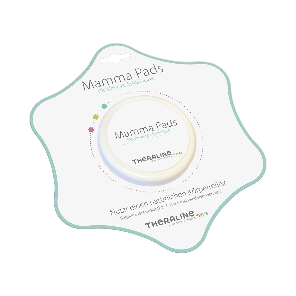 theraline 2er pack stilleinlagen mamma pads silikon. Black Bedroom Furniture Sets. Home Design Ideas