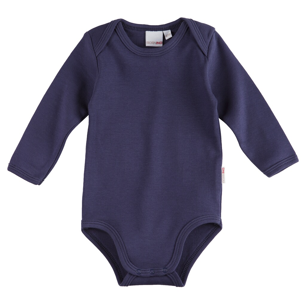 BORNINO BASICS Body langarm  marine 1