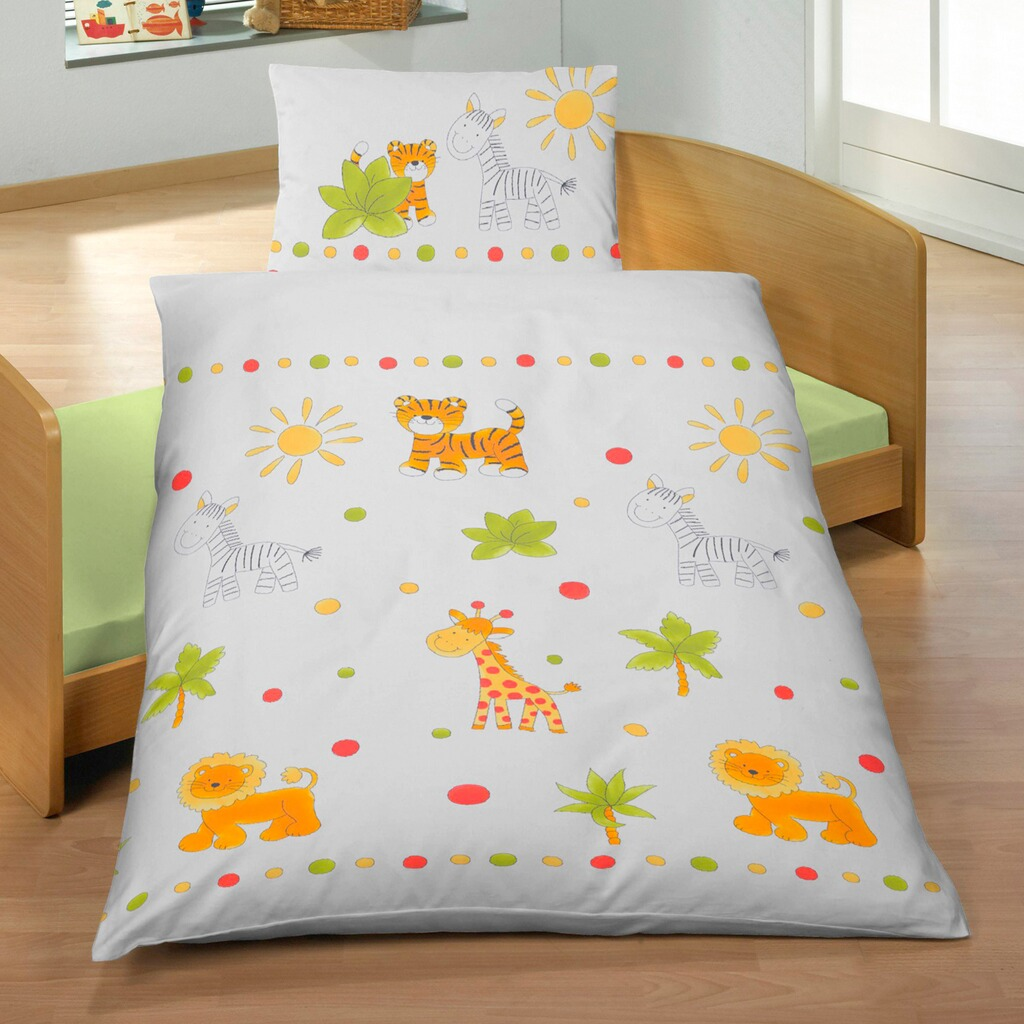 ido kinder linon bettw sche safari 100 x 135 cm online kaufen baby walz. Black Bedroom Furniture Sets. Home Design Ideas