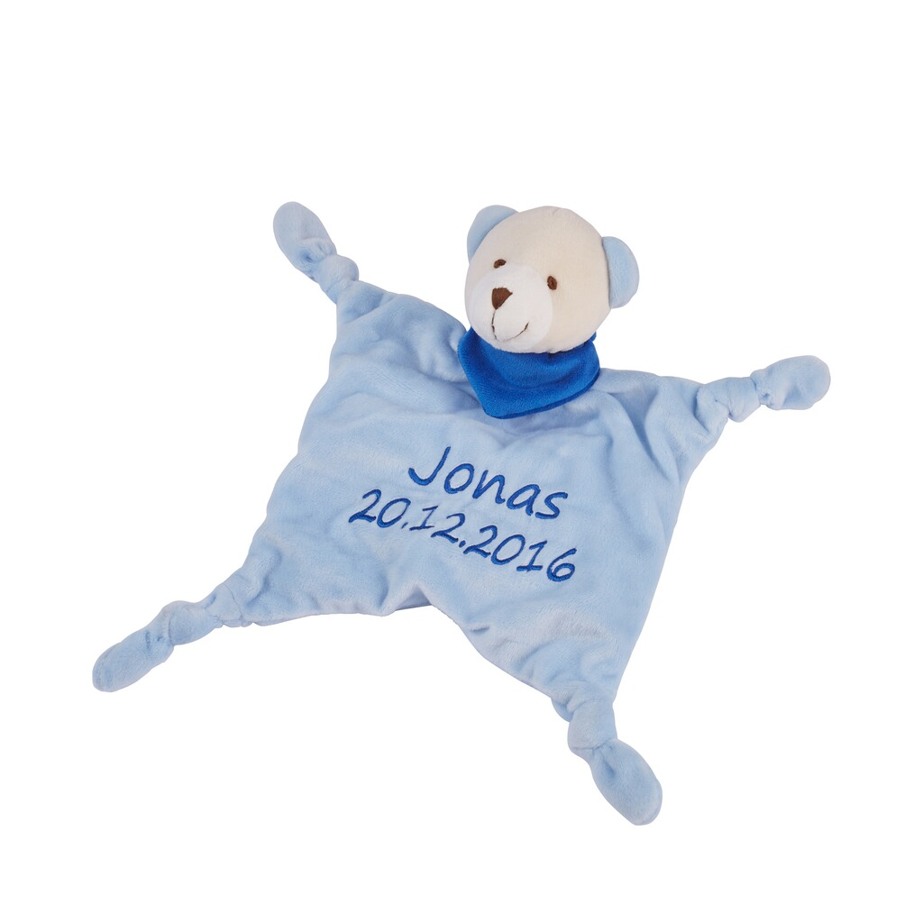 schmusetuch mit namen und geburtsdatum online kaufen baby walz. Black Bedroom Furniture Sets. Home Design Ideas