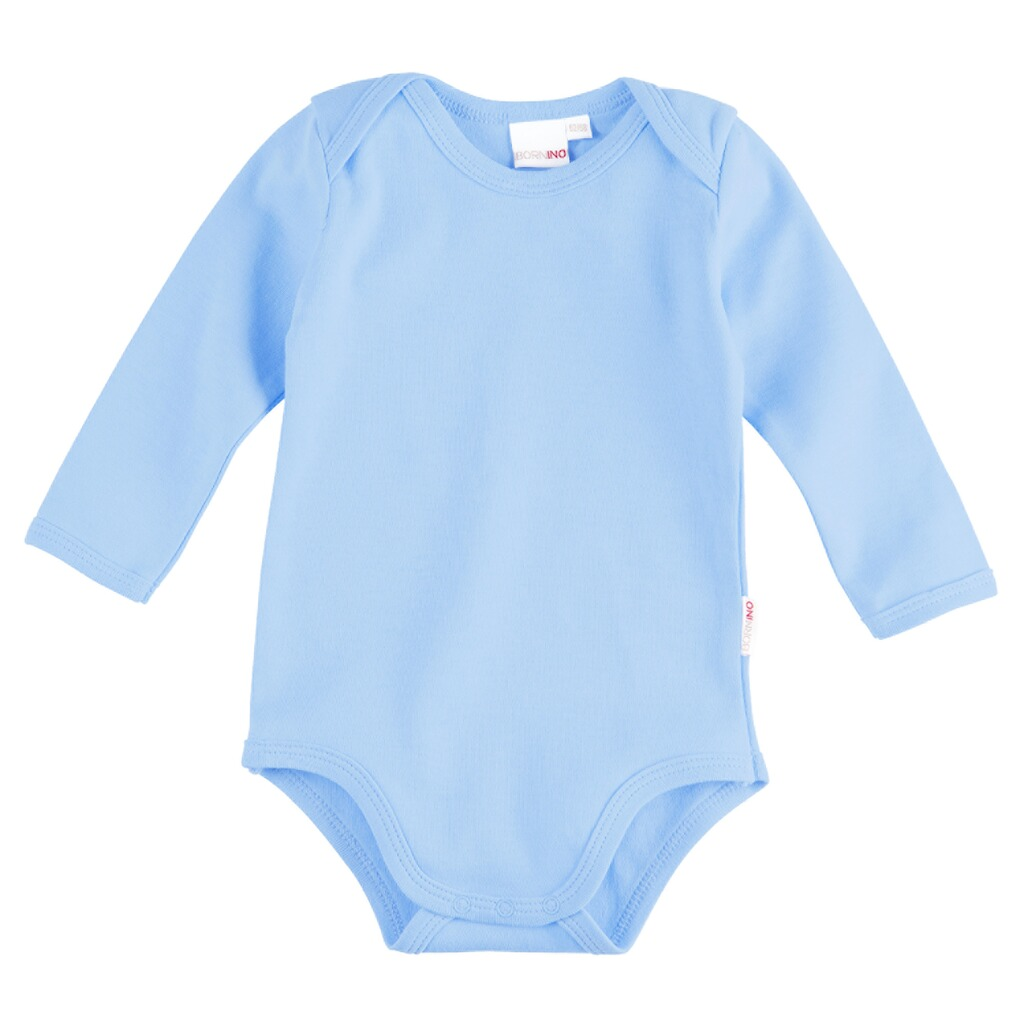 BORNINO BASICS Body langarm  hellblau 1