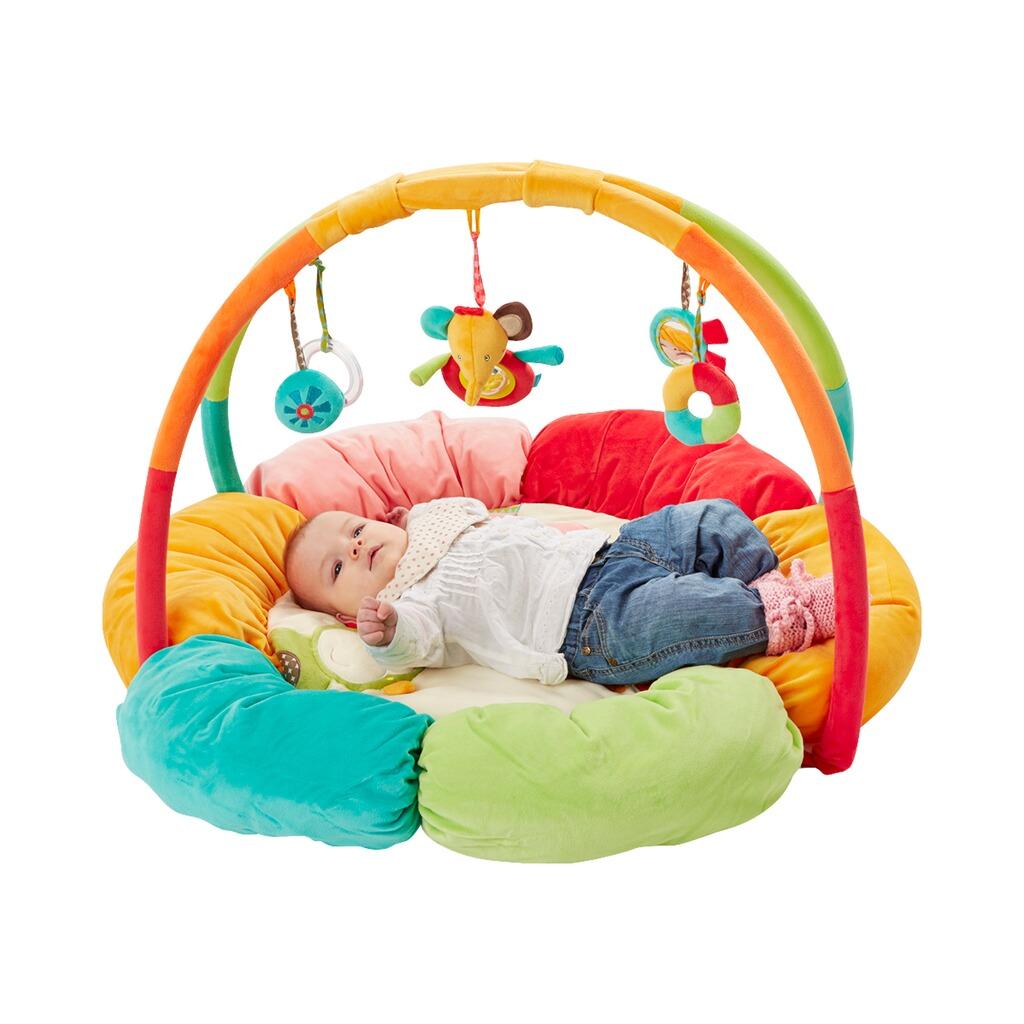 fehn spielbogen mit 3 d activity nest safari online kaufen baby walz. Black Bedroom Furniture Sets. Home Design Ideas
