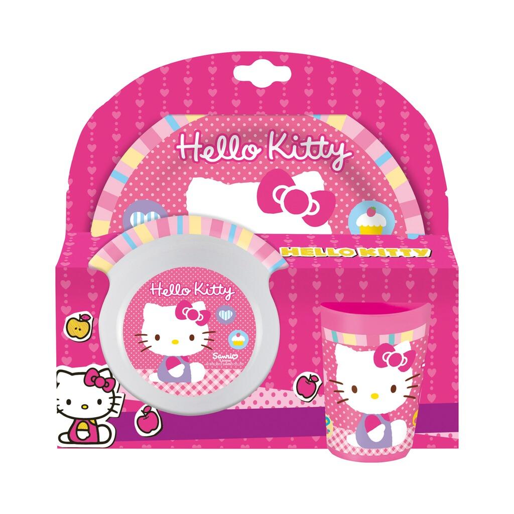 Hello Kitty Hello Kitty 3tlg Melaminset Online Kaufen Baby Walz