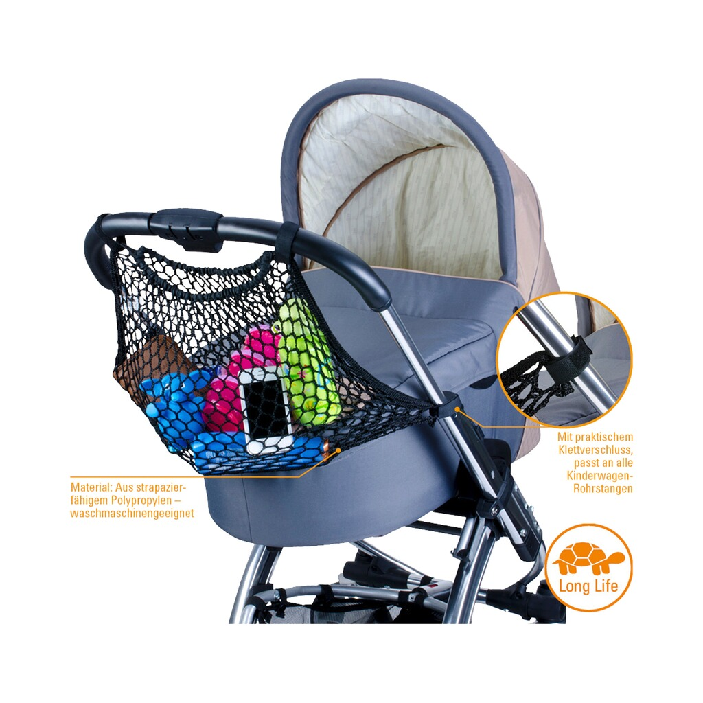 diago einkaufsnetz f r kinderwagen und buggy online kaufen. Black Bedroom Furniture Sets. Home Design Ideas