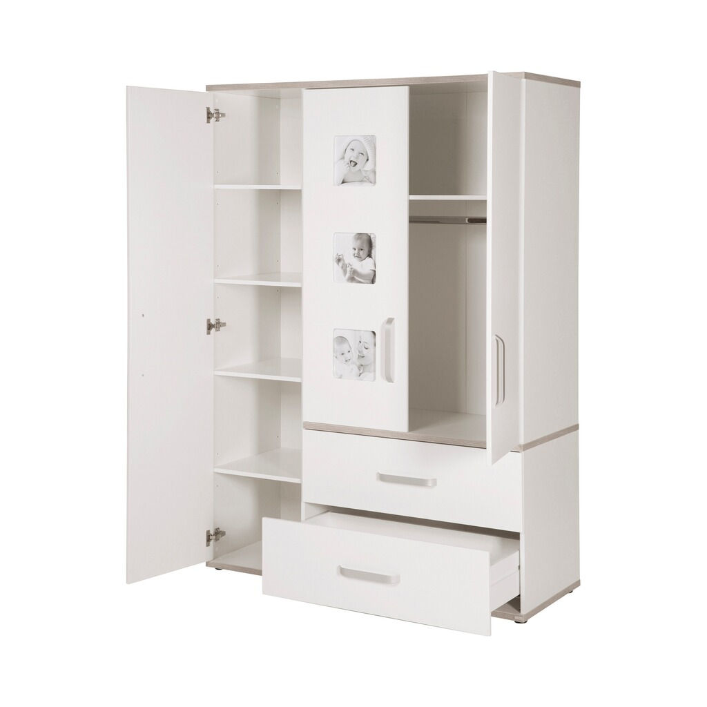roba kleiderschrank moritz 3 t rig online kaufen baby walz. Black Bedroom Furniture Sets. Home Design Ideas