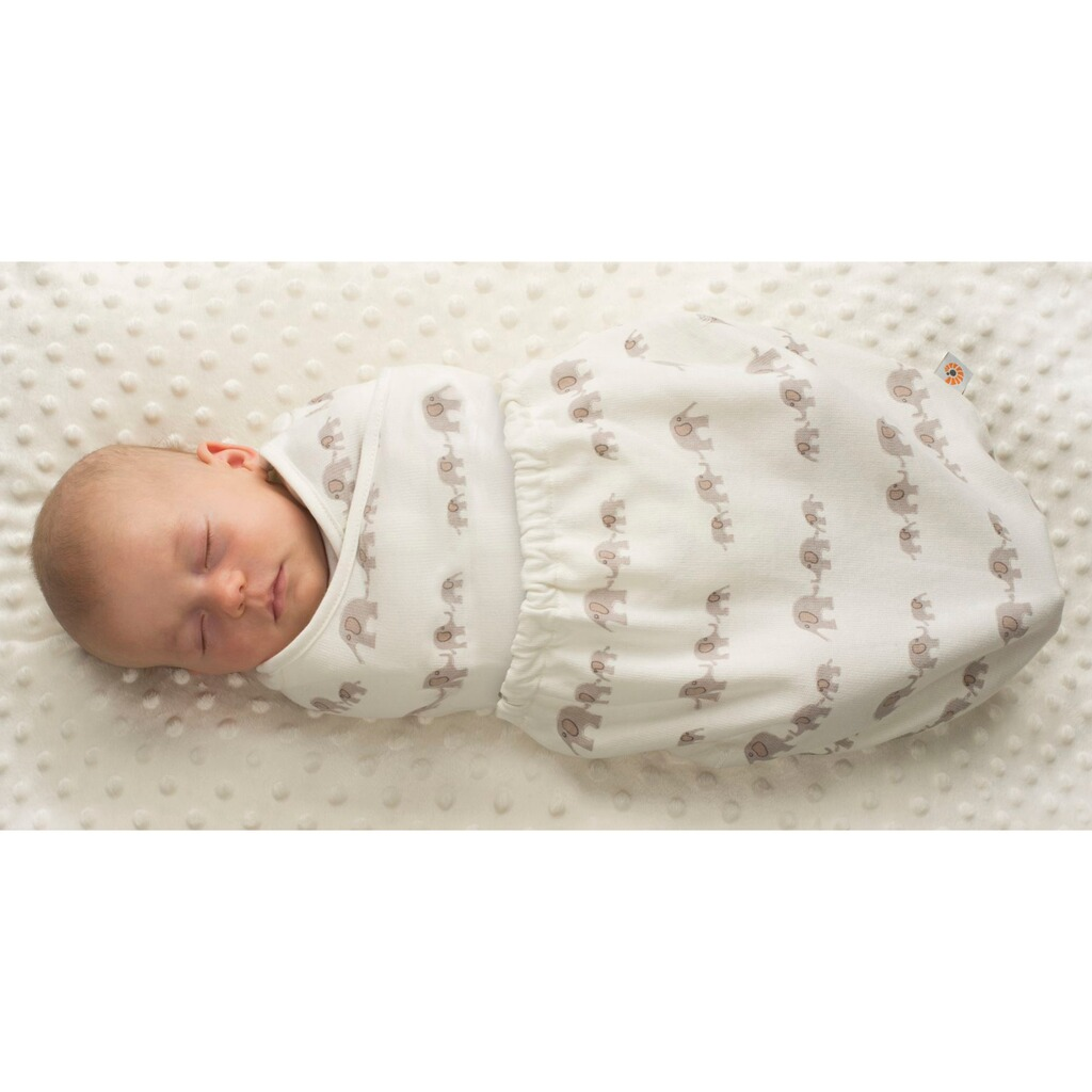 ERGOBABY®  Puck-Mich-Sack Swaddler Single  elephant 2