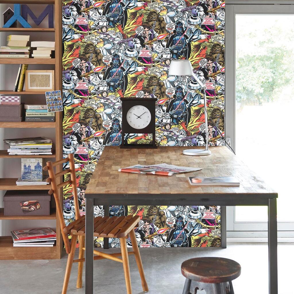 matex star wars tapete comic 10 05x0 53 m online kaufen baby walz. Black Bedroom Furniture Sets. Home Design Ideas