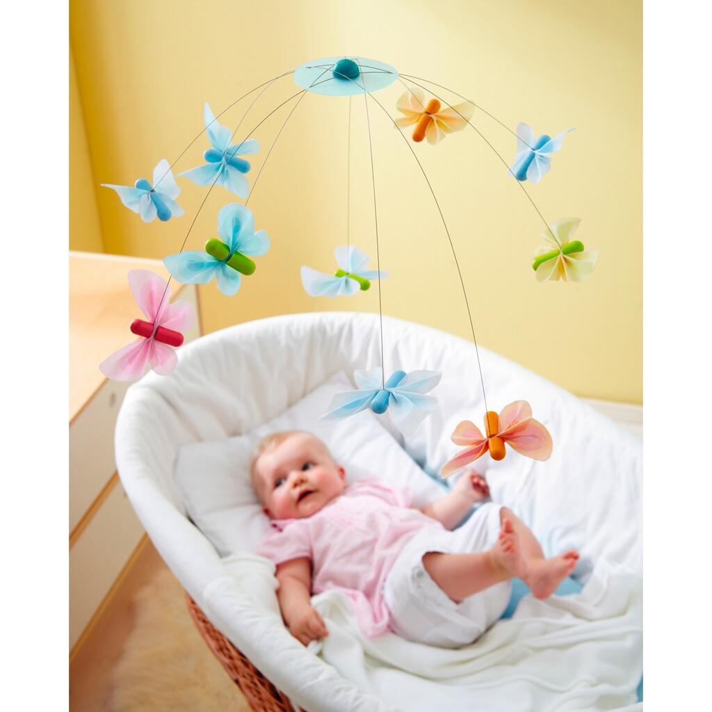 haba mobile schmetterlingsfreunde online kaufen baby walz. Black Bedroom Furniture Sets. Home Design Ideas