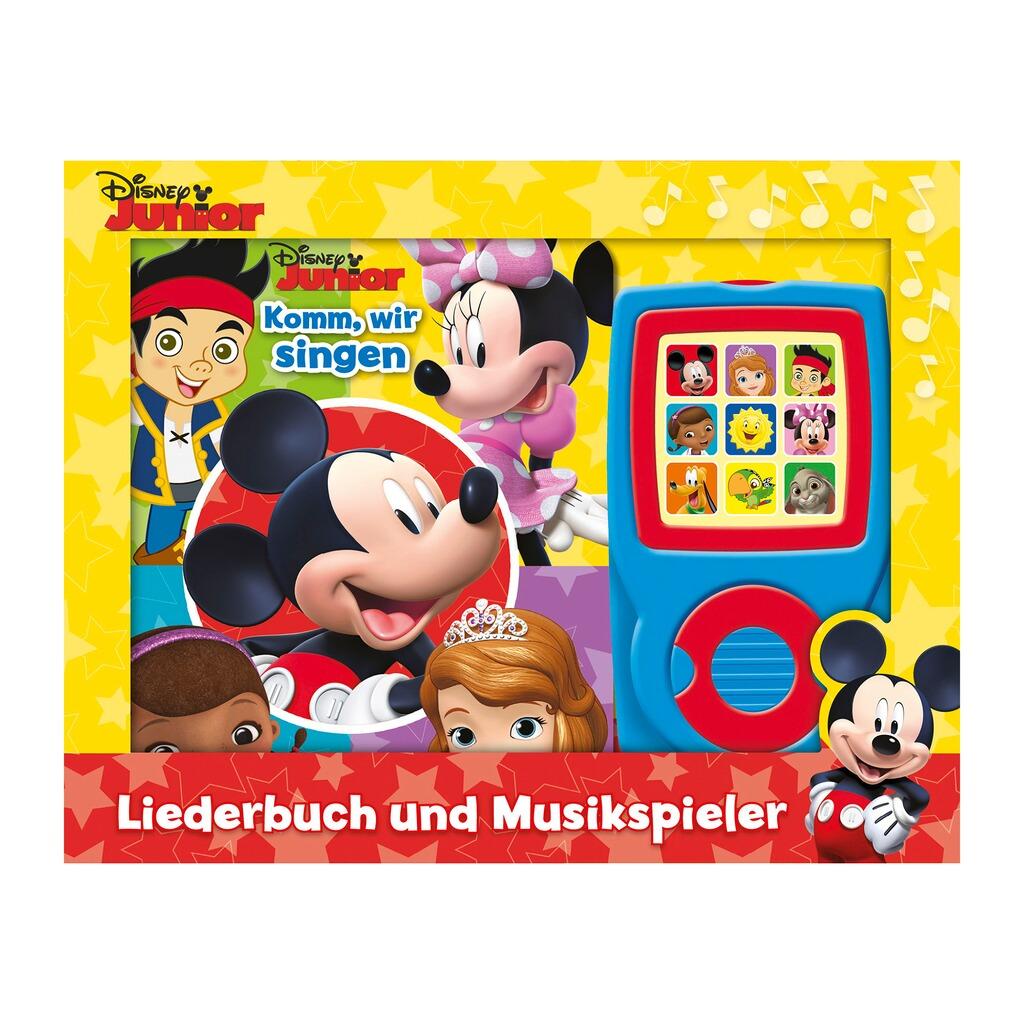 DISNEY MICKEY MOUSE & FRIENDS Liederbuch und Musikplayer Micky Maus ...
