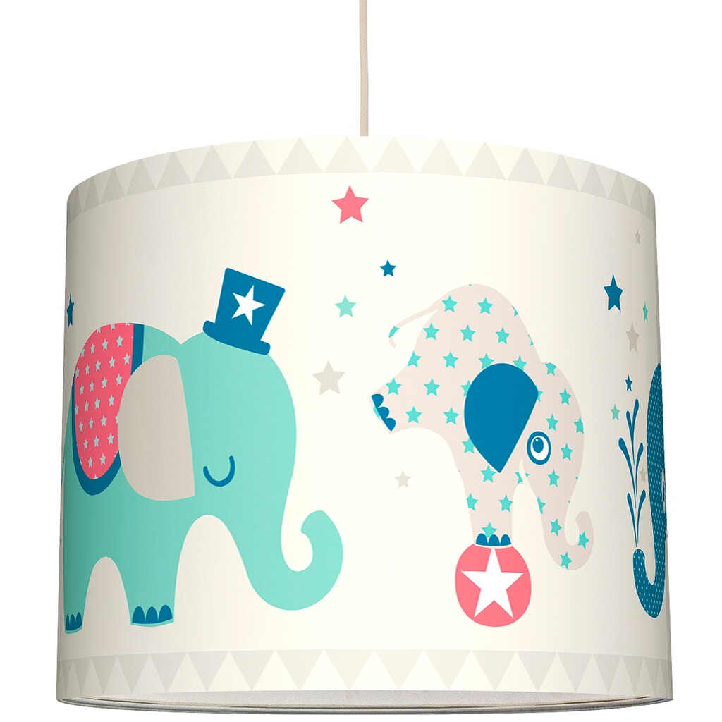 anna wand design lampenschirm elefanten boys 40 cm. Black Bedroom Furniture Sets. Home Design Ideas
