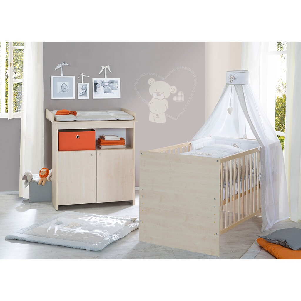 Little world wickelkommode milo schmal inkl wickelansatz - Exklusive babyzimmer ...
