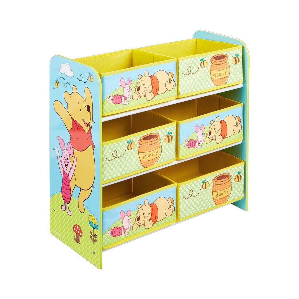 worldsapart disney winnie puuh aufbewahrungsregal mit 6 boxen online kaufen baby walz. Black Bedroom Furniture Sets. Home Design Ideas