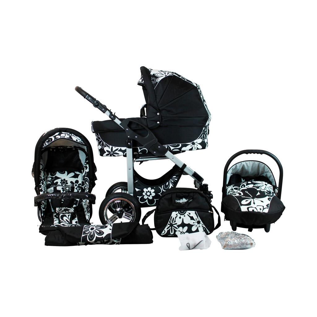 bergsteiger capri kombikinderwagen trio set mit wickeltasche online kaufen baby walz. Black Bedroom Furniture Sets. Home Design Ideas