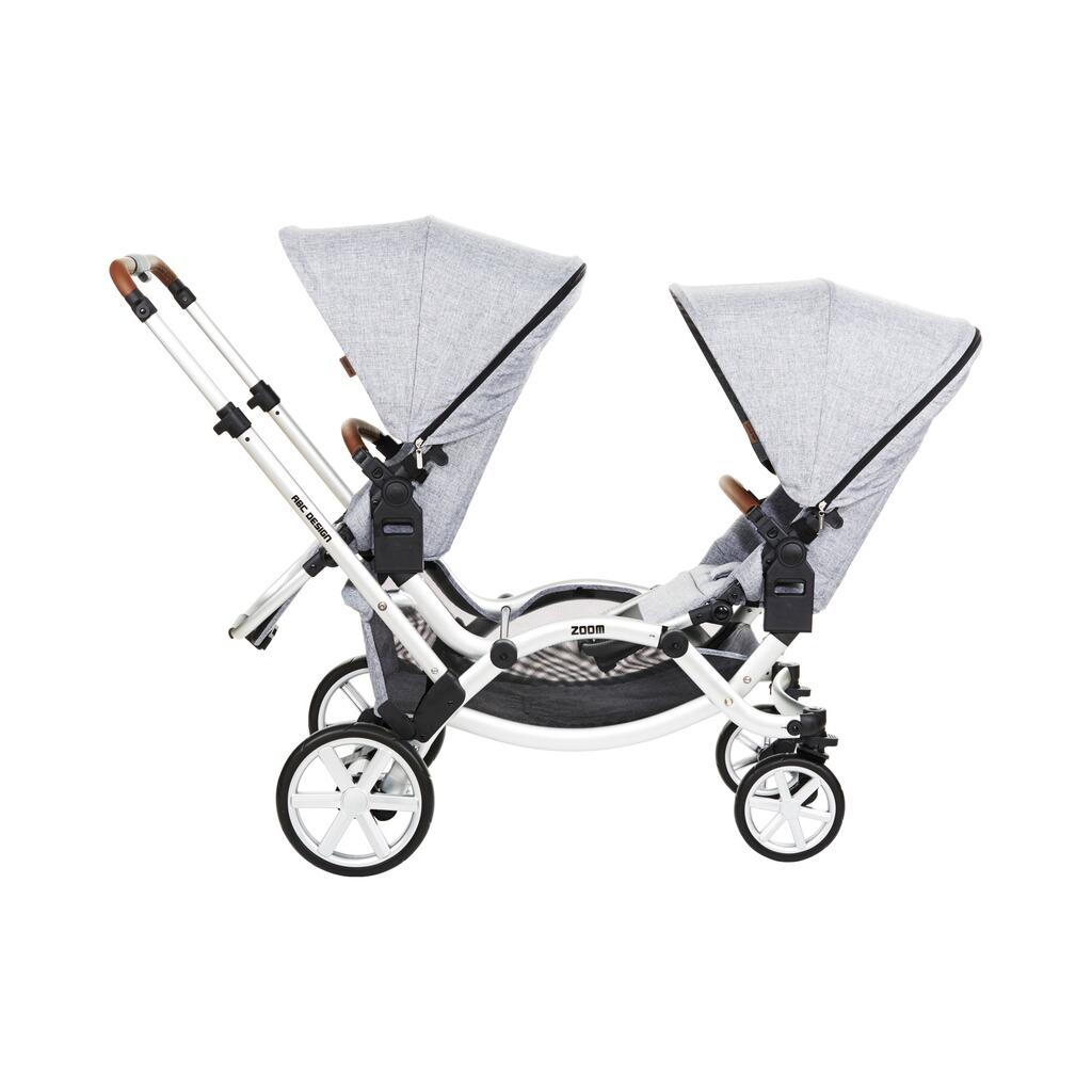 abc design zoom zwillings und geschwisterwagen online kaufen baby walz. Black Bedroom Furniture Sets. Home Design Ideas