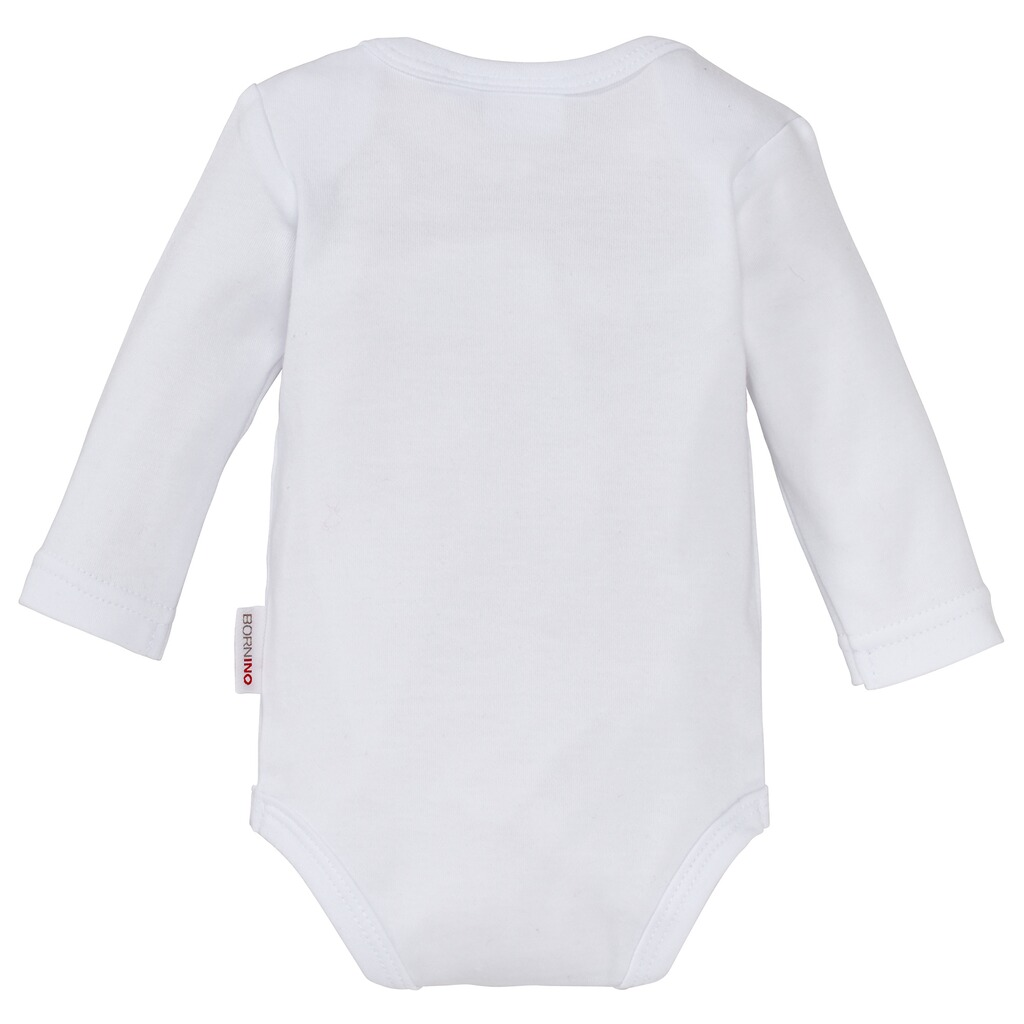 Bornino BASICS Body langarm mit Namen  weiß 2