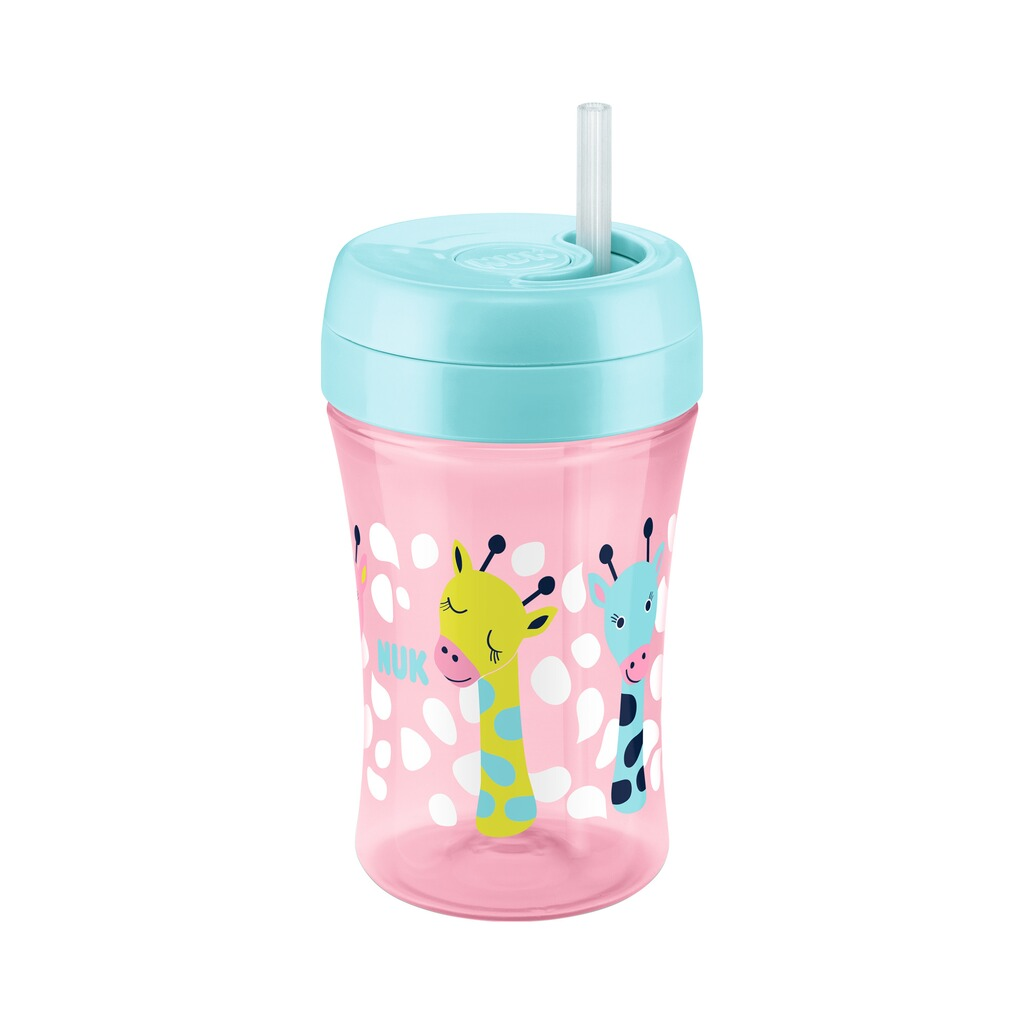 NUK  Trinklernbecher Easy Learning Cup Fun 300ml, ab 18M  rosa, bunt 1