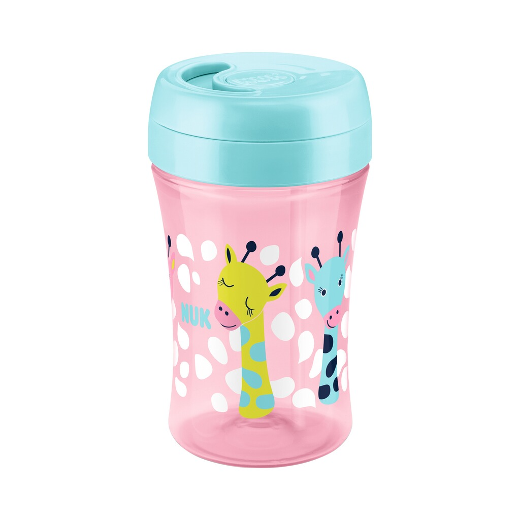 NUK  Trinklernbecher Easy Learning Cup Fun 300ml, ab 18M  rosa, bunt 2