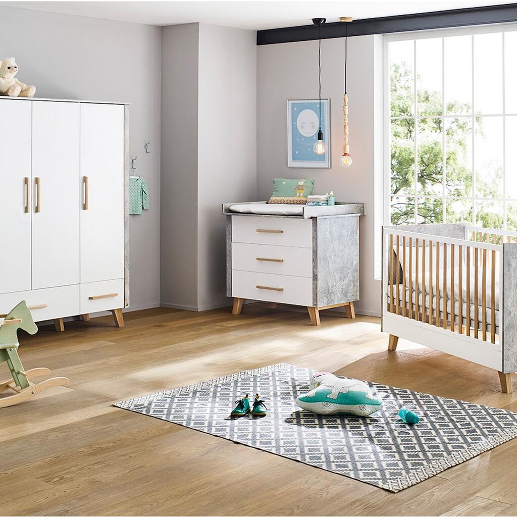 Pinolino 3 tlg babyzimmer apollo breit gro online kaufen - Exklusive babyzimmer ...