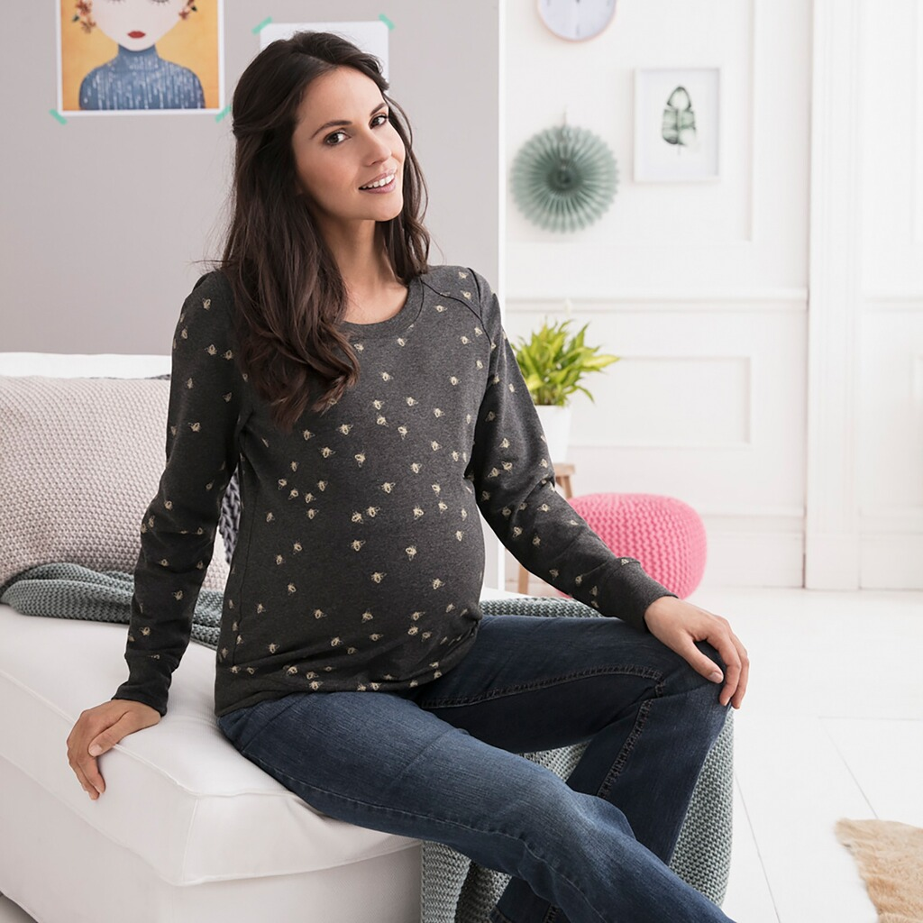 2HEARTS COSY & WILD Umstands-Pullover Sweat Busy Bee 4