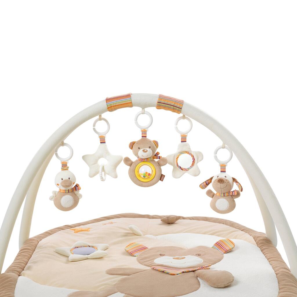 fehn spielbogen mit 3 d activity decke teddy rainbow online kaufen baby walz. Black Bedroom Furniture Sets. Home Design Ideas