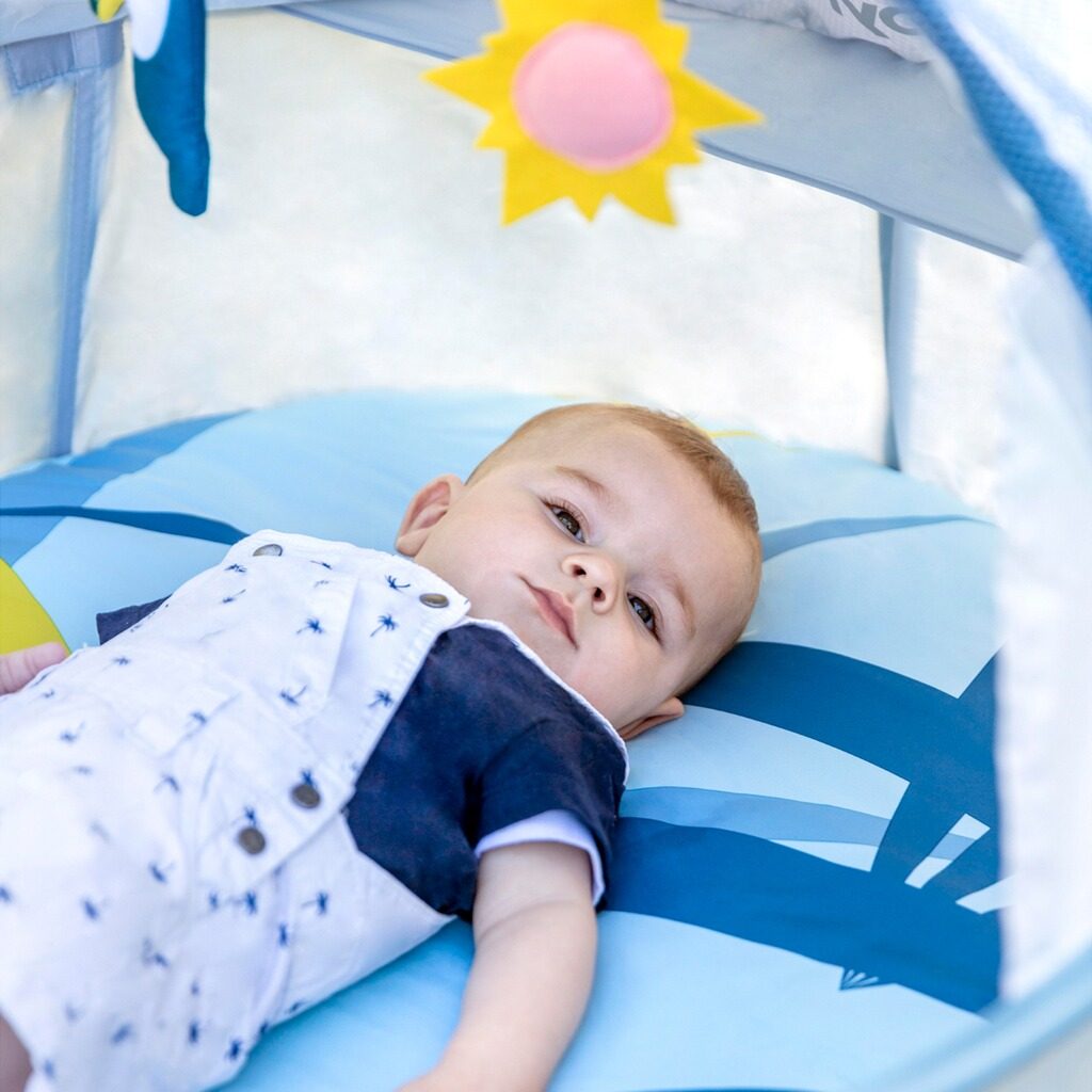 babymoov reise strandbett little babyni tropical mit uv. Black Bedroom Furniture Sets. Home Design Ideas