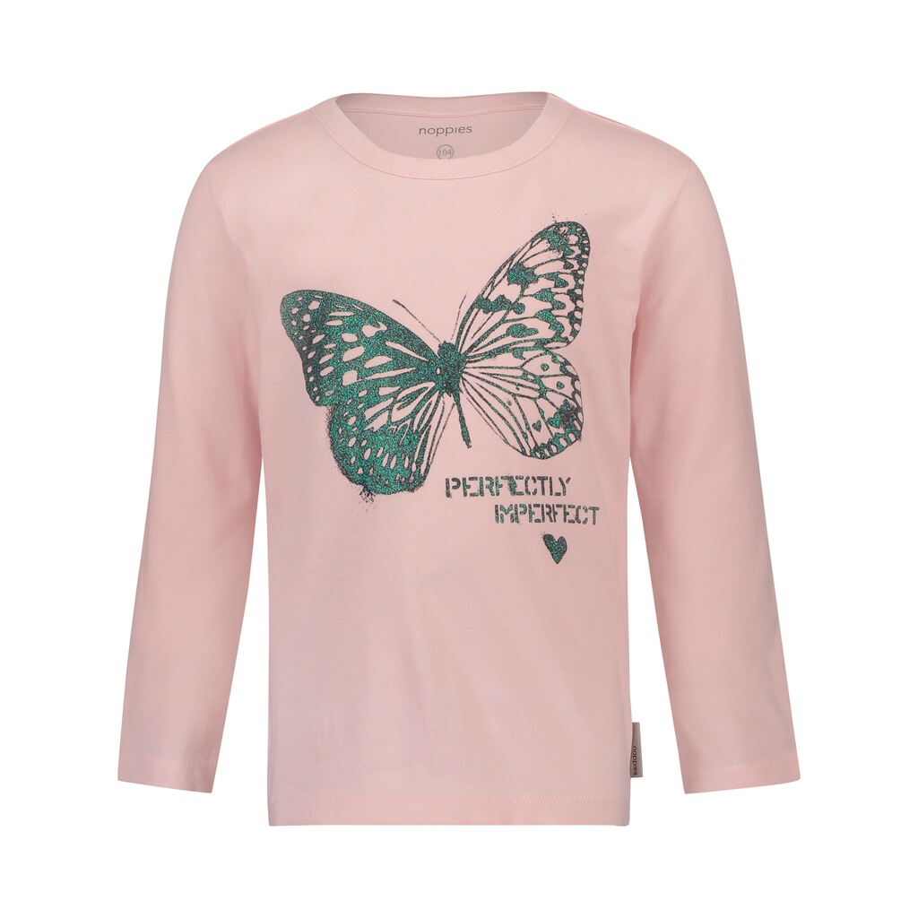 Noppies  Shirt langarm Schmetterling  rosa 1