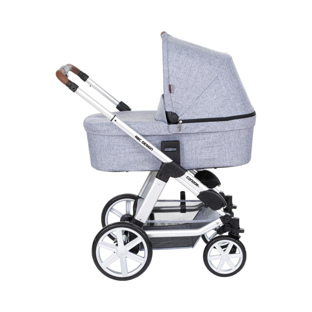 abc design condor 4 kombikinderwagen trio set mit wickeltasche online kaufen baby walz. Black Bedroom Furniture Sets. Home Design Ideas