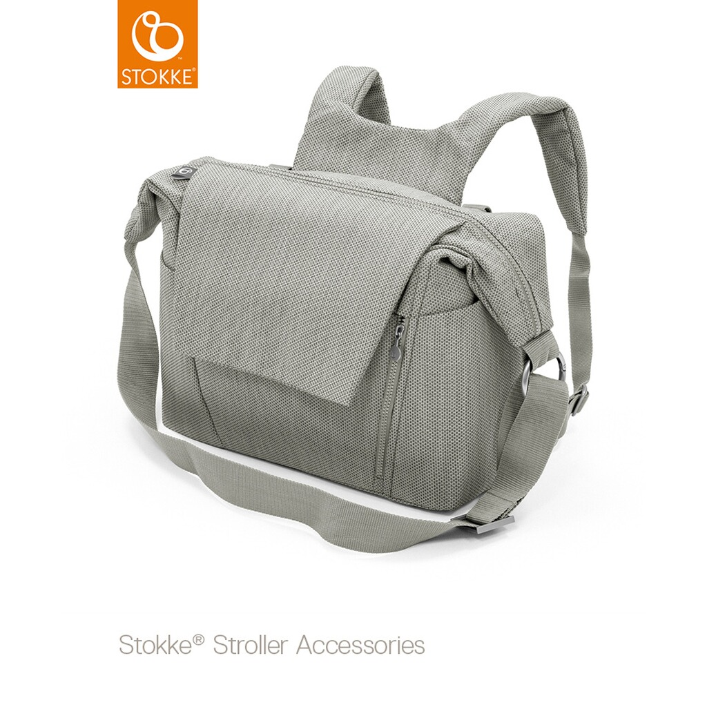 Stokke® TEXTILES Wickeltasche  brushed grey 1