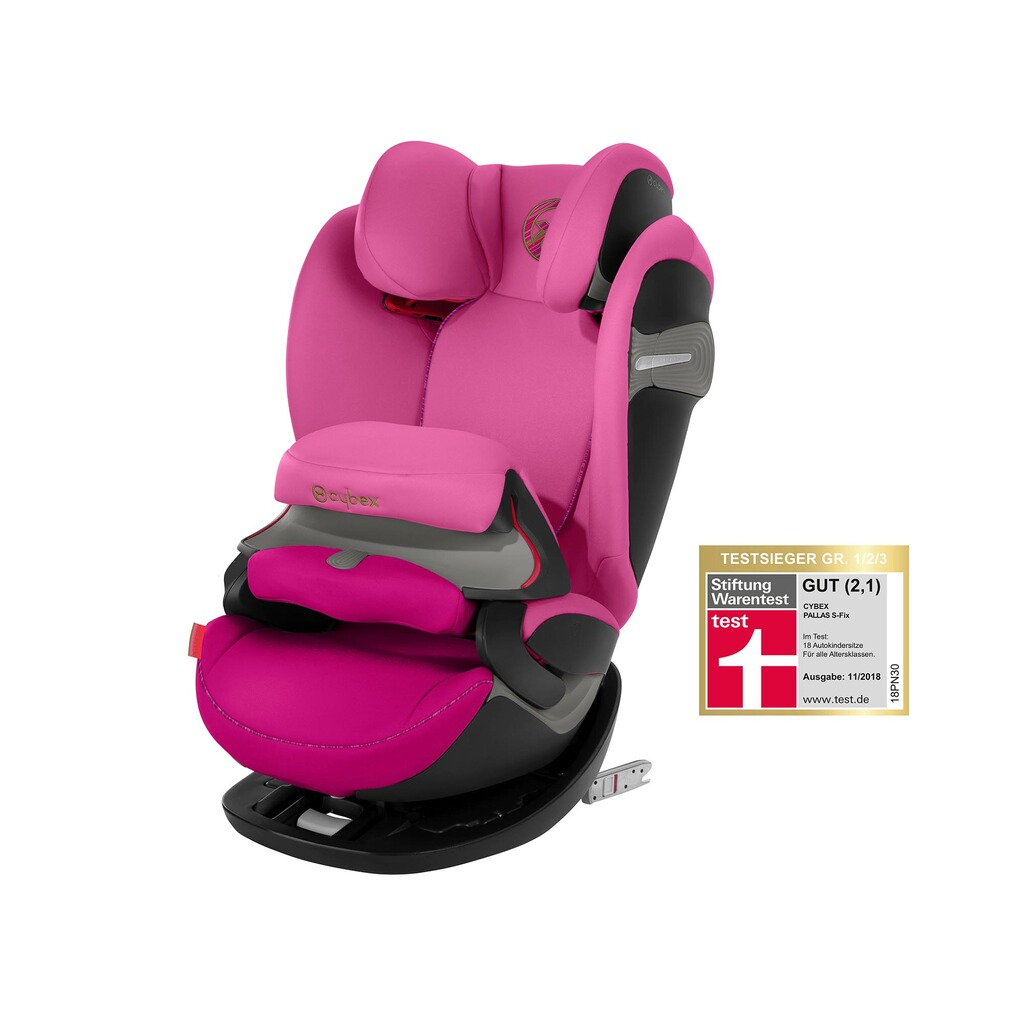 Cybex GOLD Pallas S-Fix Kindersitz  fancy pink 1