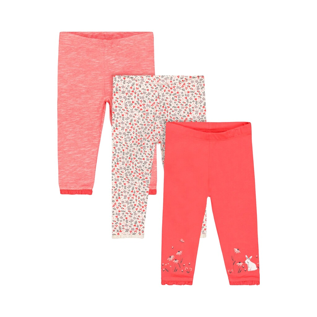 Mothercare  3er-Pack Leggings Hase Blumen 1