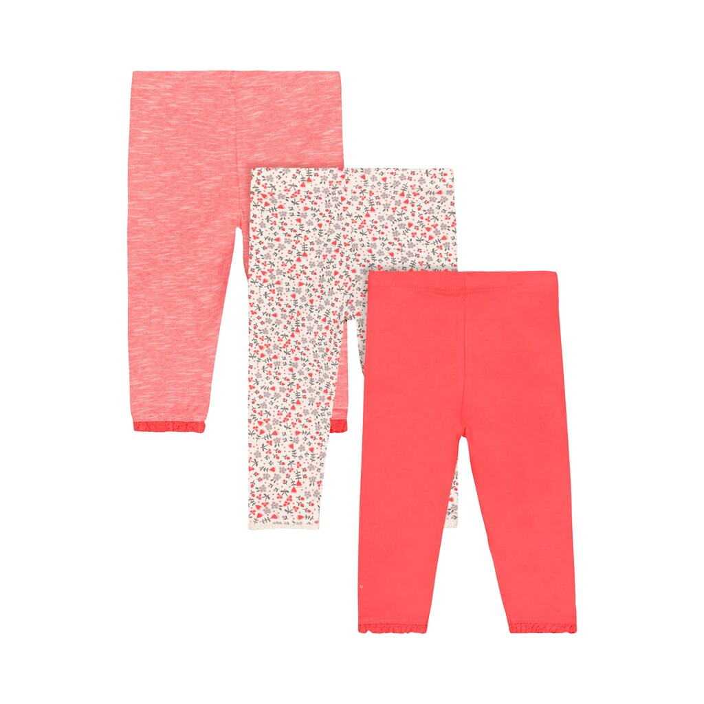 Mothercare  3er-Pack Leggings Hase Blumen 2