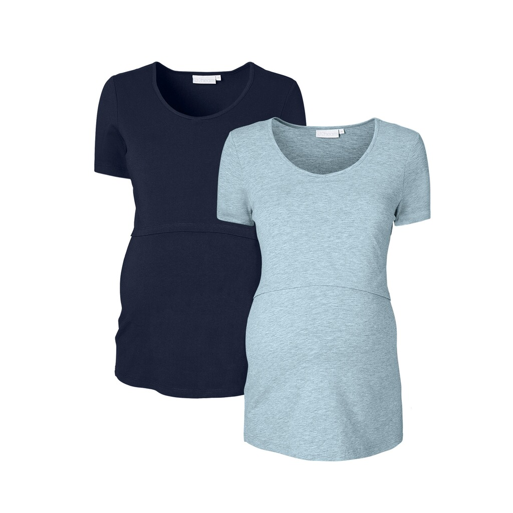2hearts let´s get cozy 2er-Pack Umstands- und Still-T-Shirt 1