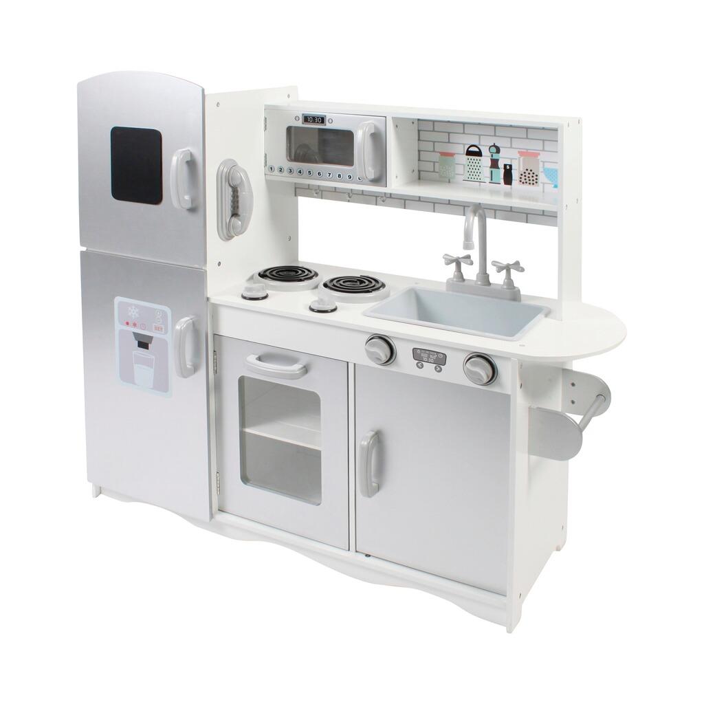 14b5b1e37b9d06 Kinderküche weiß/silber