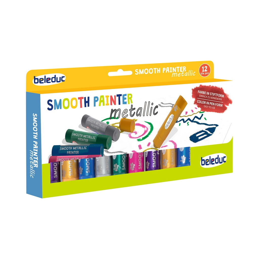 Beleduc  Stifte Smooth Painter Metallic 12 Stück 1