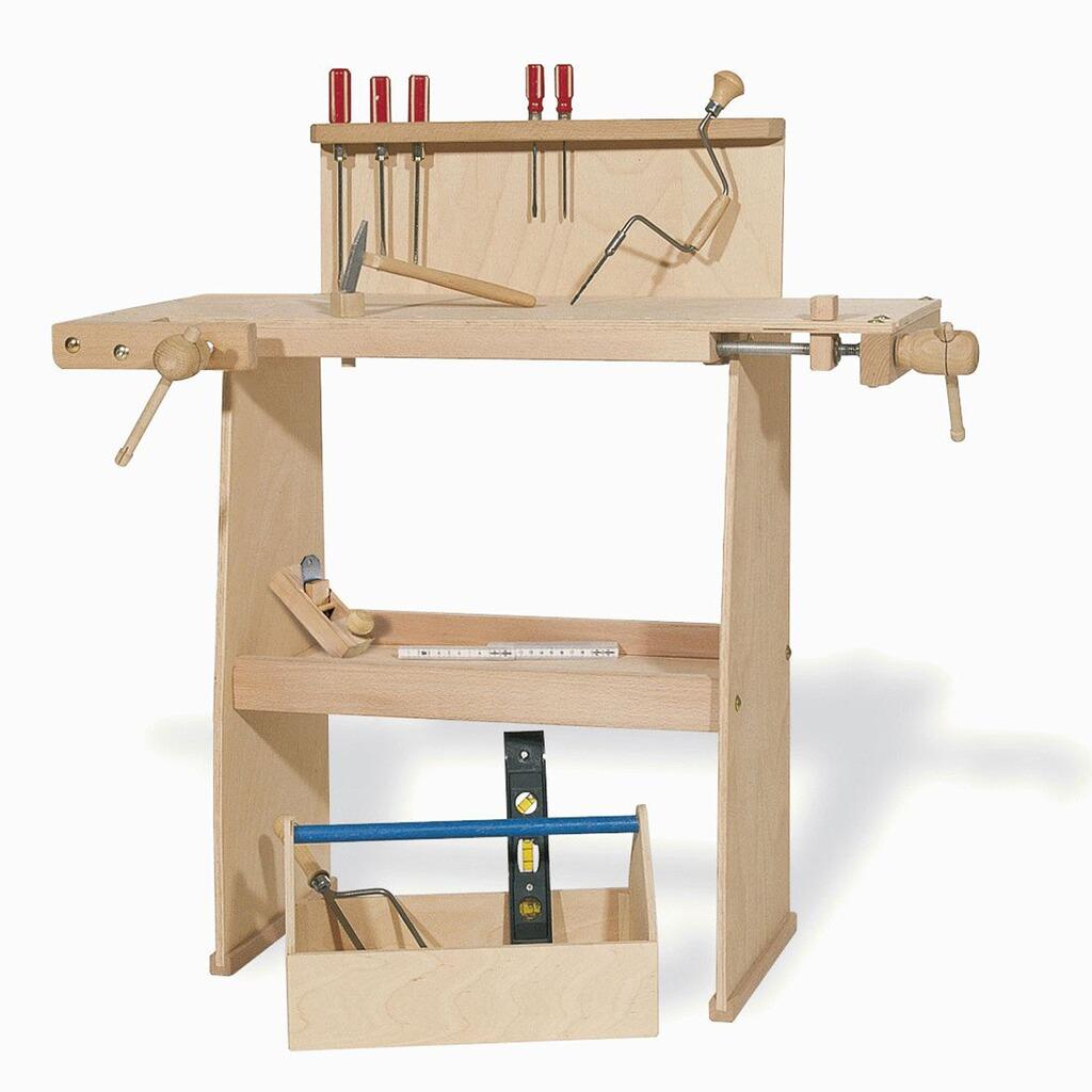 pinolino werkbank walter aus holz online kaufen baby walz. Black Bedroom Furniture Sets. Home Design Ideas