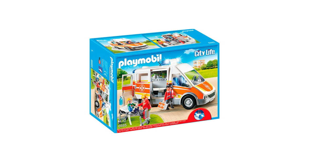 playmobil city life 6685 krankenwagen mit licht und sound. Black Bedroom Furniture Sets. Home Design Ideas
