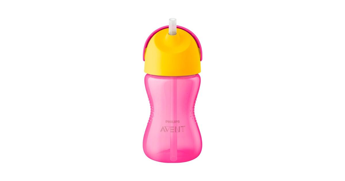 PHILIPS AVENT 300ML BOY Trinklernbecher mit Strohhalm Trinklernflasche Flasche