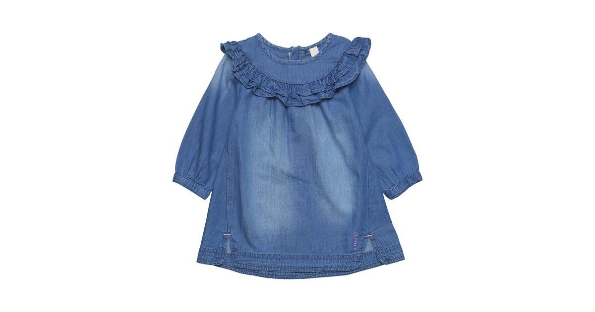 ESPRIT Jeanskleid langarm Rüschen online kaufen   baby-walz 9aa30369fb