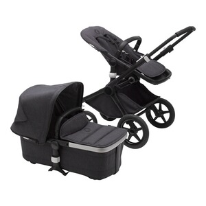 Bugaboo FOX 2 Kombikinderwagen Mineral Kollektion  black/washed black