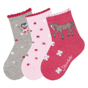 Sterntaler3er-Pack Socken Fee Pferd 1