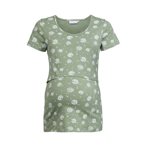 2hearts WE LOVE BASICS Umstands- und Still-T-Shirt GOTS  Pusteblumen grün