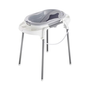Rotho Babydesign  4-tlg. Badewannen-Set TOP Badestation  stone grey