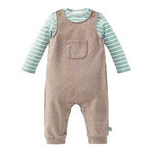 Bornino Forest Boys 2-tlg. Set Latzhose und Shirt langarm Ringel