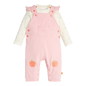 Bornino Lovely Fruits 2-tlg. Set Latzhose und Shirt langarm Apfel