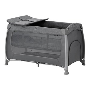 Hauck  Reisebett Play N Relax Center  melange charcoal