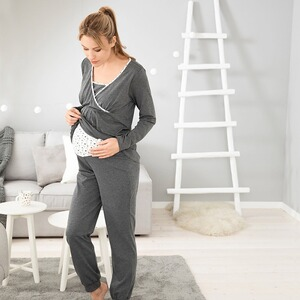 2hearts WE LOVE BASICS Umstands- und Still-Pyjama