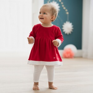 Bornino FESTLICHE MODE 2-tlg. Set Kleid langarm mit Leggings