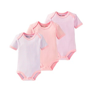 Bornino MOUSE & ELEPHANT Body kurzarm 3er-Pack  rosa