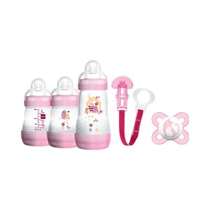 MAM  5-tlg. Starter-Set Welcome to the world 160-260ml, Kunststoff  rosa