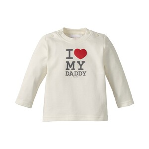 BORNINO BASICS Shirt langarm Love  wollweiß Daddy